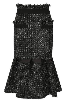 Женская юбка SACAI черного цвета, арт. 20-05008 | Фото 1