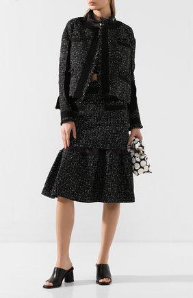 Женская юбка SACAI черного цвета, арт. 20-05008 | Фото 2