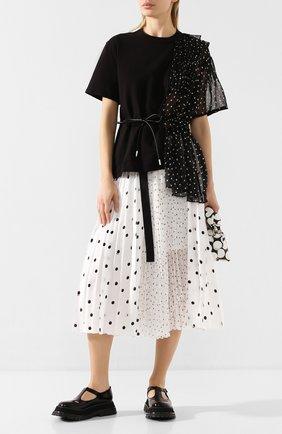 Женская юбка SACAI белого цвета, арт. 20-05066 | Фото 2