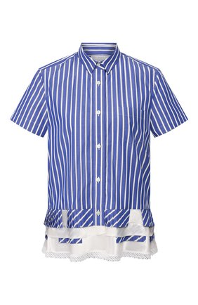 Женская рубашка SACAI синего цвета, арт. SCW-010 | Фото 1