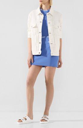 Женская юбка из вискозы STEVE J & YONI P синего цвета, арт. PW2A3K-SC019W   Фото 2