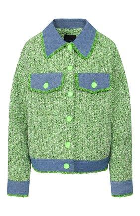 Женский хлопковый жакет STEVE J & YONI P зеленого цвета, арт. PW2A1W-JC320D   Фото 1