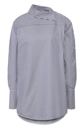 Женская хлопковая рубашка VICTORIA, VICTORIA BECKHAM синего цвета, арт. 2120WSH000843A | Фото 1