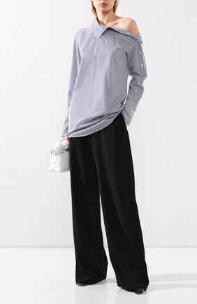 Женская хлопковая рубашка VICTORIA, VICTORIA BECKHAM синего цвета, арт. 2120WSH000843A | Фото 2