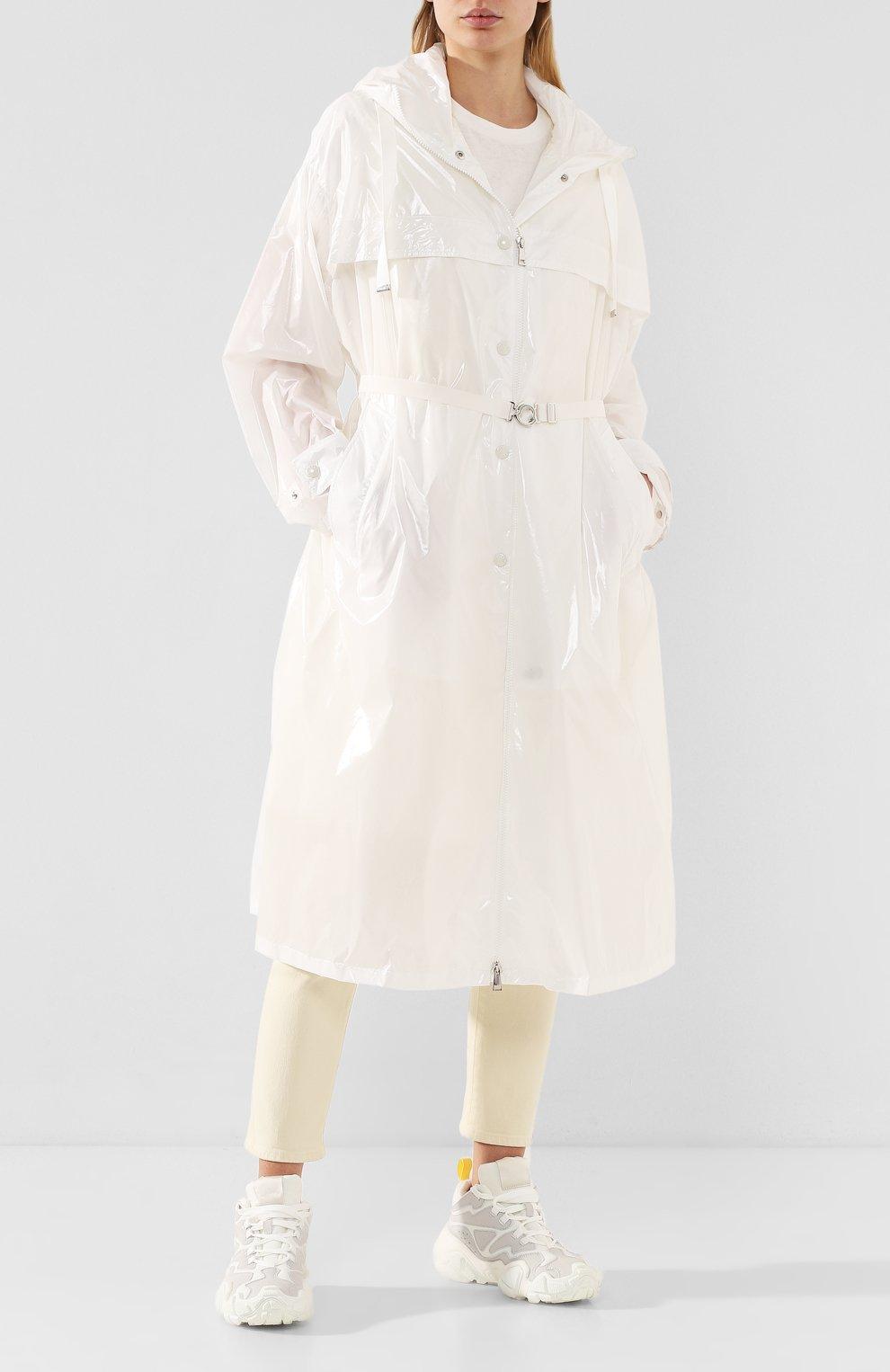 Женский плащ isabelle MONCLER белого цвета, арт. F1-093-1D506-00-C0447 | Фото 2