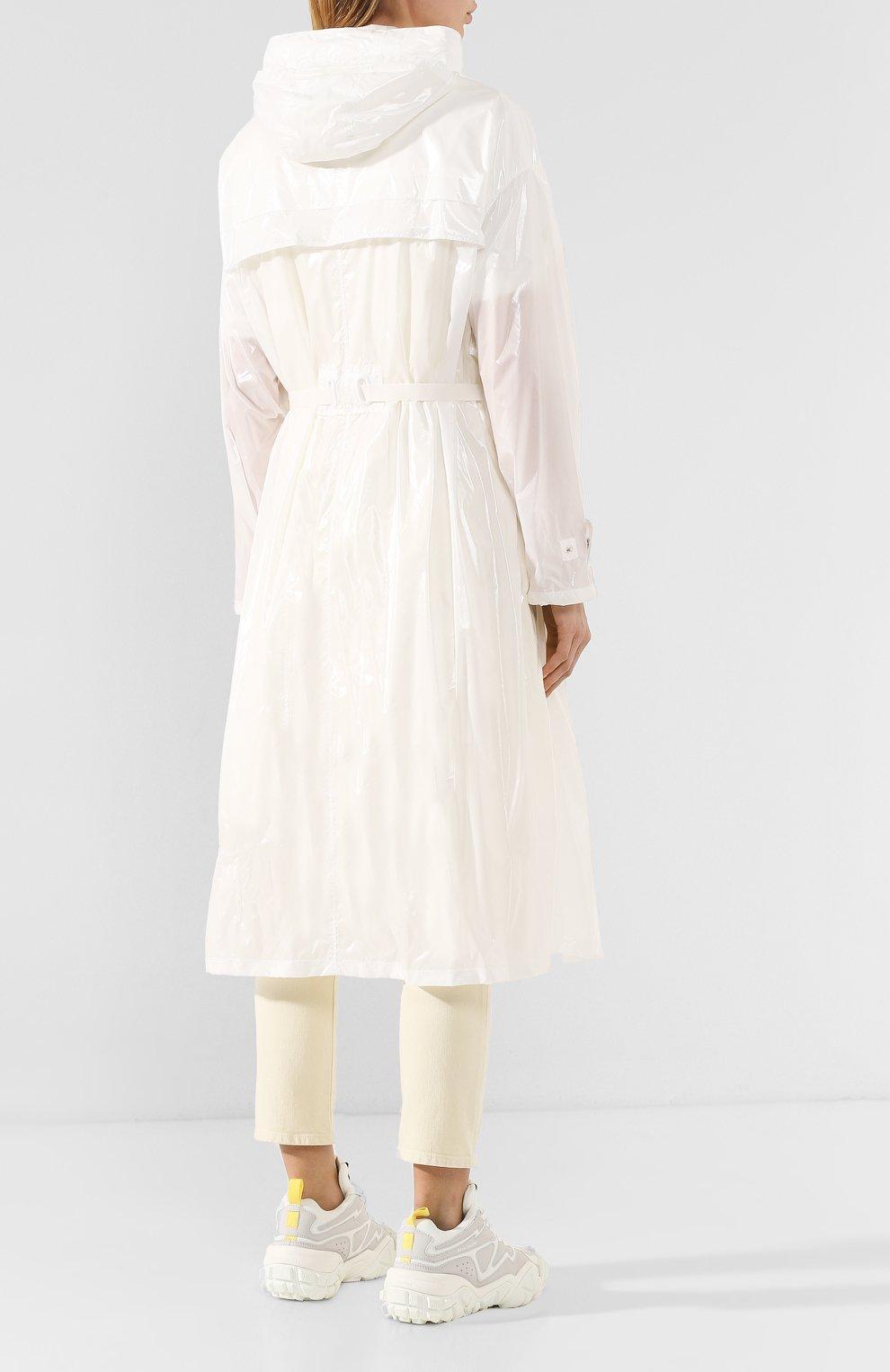 Женский плащ isabelle MONCLER белого цвета, арт. F1-093-1D506-00-C0447 | Фото 4