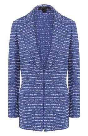 Женский жакет из смеси шерсти и вискозы ST. JOHN синего цвета, арт. K61Z092 | Фото 1