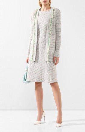 Женское пальто из смеси вискозы и шерсти ST. JOHN светло-зеленого цвета, арт. K61Z0J2 | Фото 2