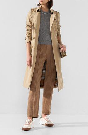 Женские хлопковые брюки RAG&BONE коричневого цвета, арт. WAW20S70112P11   Фото 2