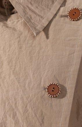 Женский хлопковый тренч ACNE STUDIOS бежевого цвета, арт. A90229/W | Фото 5