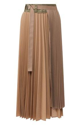 Женская юбка SACAI бежевого цвета, арт. 20-04822 | Фото 1