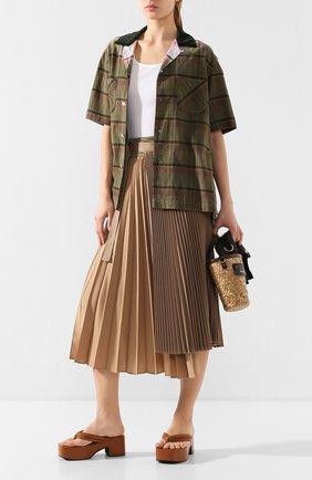 Женская юбка SACAI бежевого цвета, арт. 20-04822 | Фото 2