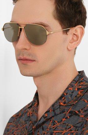 Мужские солнцезащитные очки CARTIER золотого цвета, арт. CT0229S 003 | Фото 2