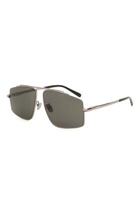 Мужские солнцезащитные очки BRIONI серебряного цвета, арт. BR0074S 001 | Фото 1