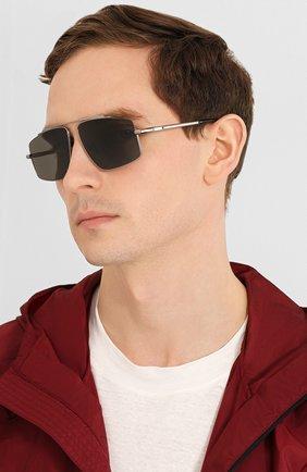 Мужские солнцезащитные очки BRIONI серебряного цвета, арт. BR0074S 001 | Фото 2