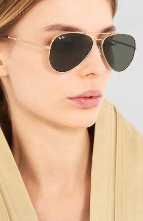 Женские солнцезащитные очки RAY-BAN золотого цвета, арт. 8125-913658 | Фото 2