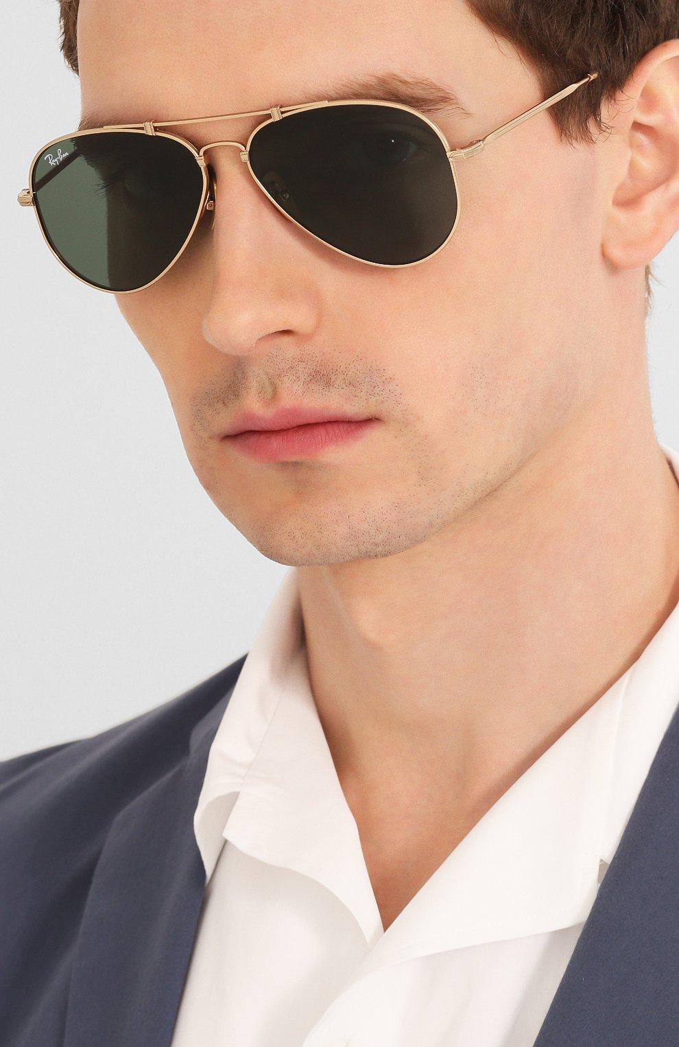 Женские солнцезащитные очки RAY-BAN золотого цвета, арт. 8125-913658 | Фото 3