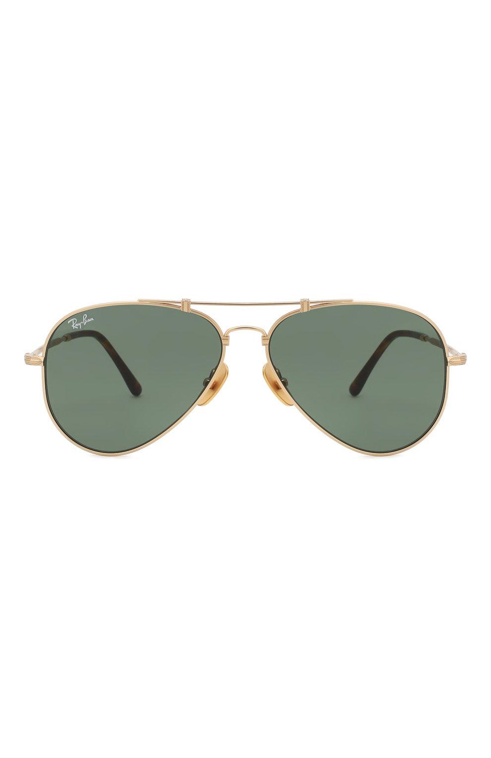 Женские солнцезащитные очки RAY-BAN золотого цвета, арт. 8125-913658 | Фото 4