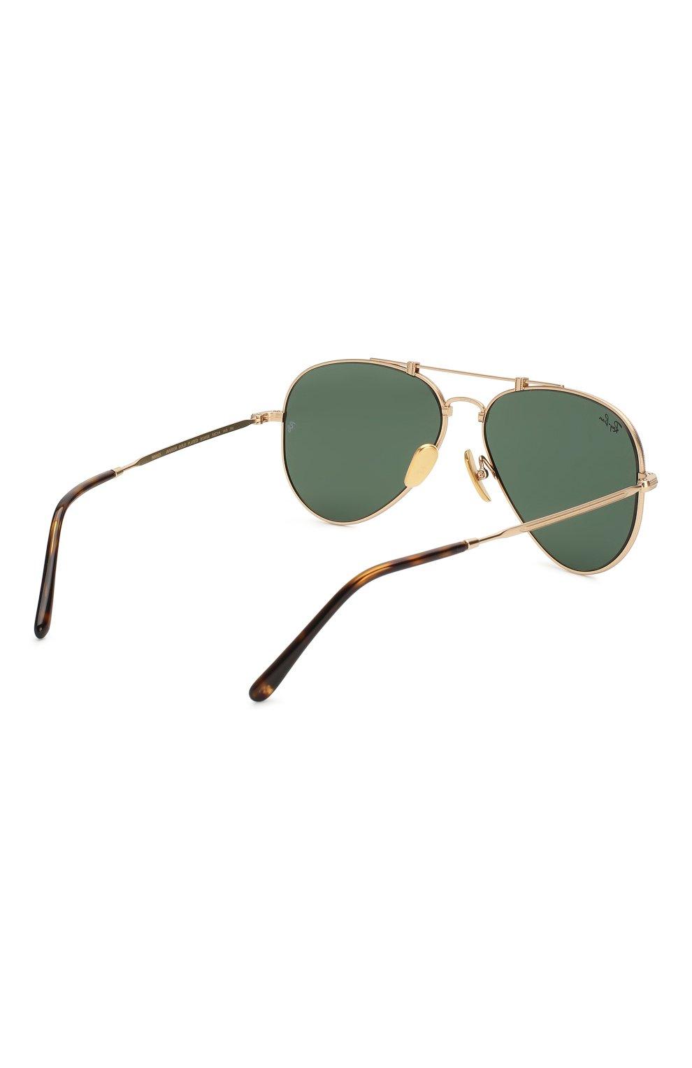Женские солнцезащитные очки RAY-BAN золотого цвета, арт. 8125-913658 | Фото 5
