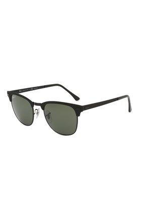 Мужские солнцезащитные очки RAY-BAN черного цвета, арт. 3716-186/58   Фото 1
