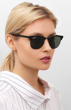 Мужские солнцезащитные очки RAY-BAN черного цвета, арт. 3716-186/58   Фото 2