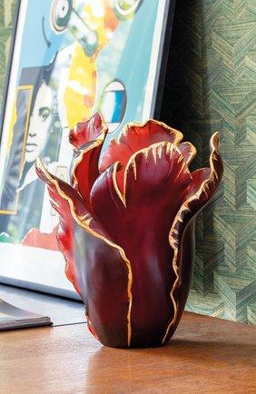Мужского ваза tulip  DAUM красного цвета, арт. 03574-11 | Фото 2