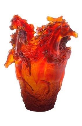 Мужская ваза magnum amber horse DAUM красного цвета, арт. 05381 | Фото 1