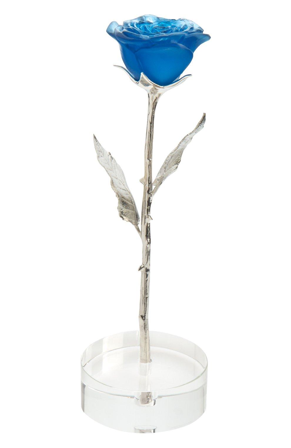 Мужского цветок розы eternelle  DAUM синего цвета, арт. 05590-2 | Фото 1