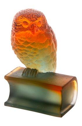 Мужская скульптура сова на книге DAUM разноцветного цвета, арт. 03465-1 | Фото 1