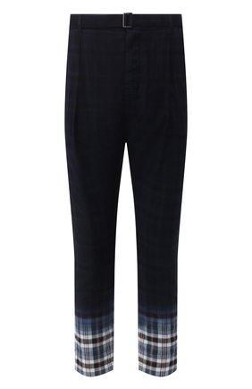 Мужской хлопковые брюки SACAI темно-синего цвета, арт. 20-02280M   Фото 1