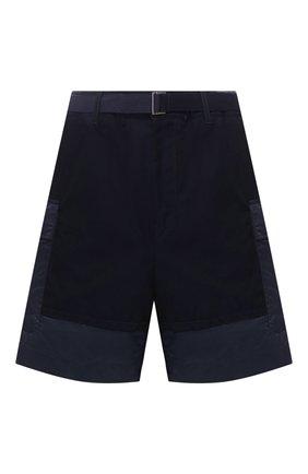 Мужские хлопковые шорты SACAI синего цвета, арт. 20-02221M   Фото 1
