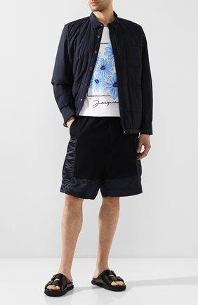 Мужские хлопковые шорты SACAI синего цвета, арт. 20-02221M   Фото 2