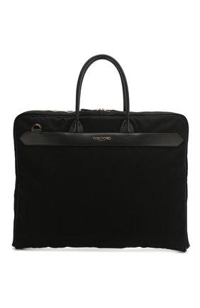 Мужская текстильная дорожная сумка TOM FORD черного цвета, арт. H0408T-TCN005 | Фото 1