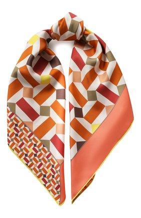 Женский шелковый платок zellige LORO PIANA оранжевого цвета, арт. FAL1439 | Фото 1