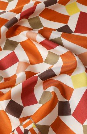 Женский шелковый платок zellige LORO PIANA оранжевого цвета, арт. FAL1439 | Фото 2