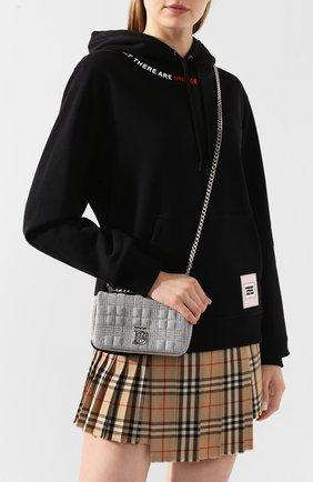 Женская сумка BURBERRY серого цвета, арт. 8027974 | Фото 2