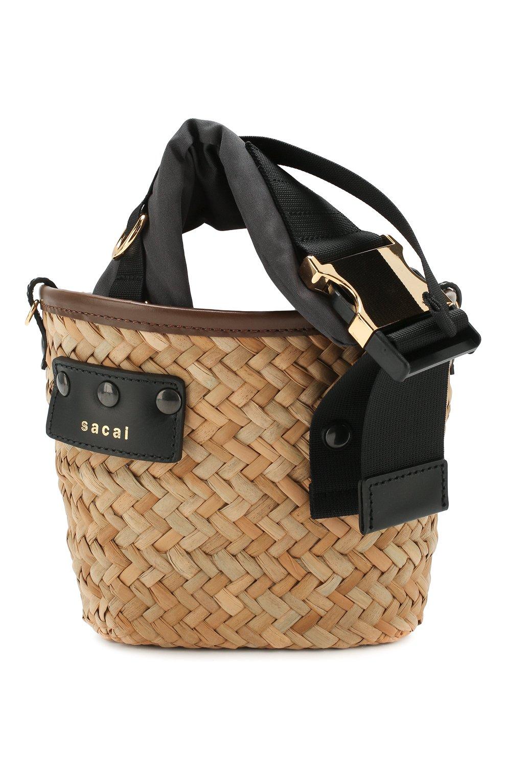Женская сумка SACAI бежевого цвета, арт. S047-01 | Фото 1