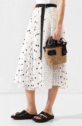 Женская сумка SACAI бежевого цвета, арт. S047-01 | Фото 2
