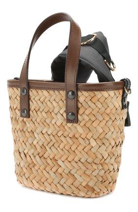 Женская сумка SACAI бежевого цвета, арт. S047-01 | Фото 3