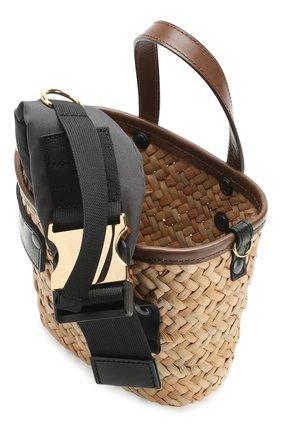 Женская сумка SACAI бежевого цвета, арт. S047-01 | Фото 4