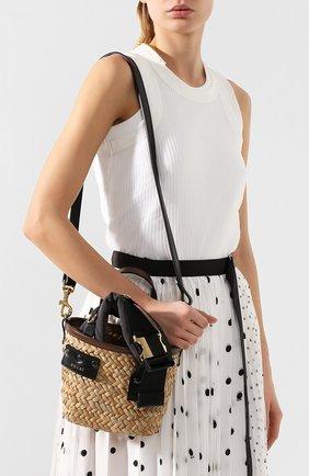 Женская сумка SACAI бежевого цвета, арт. S047-01 | Фото 5