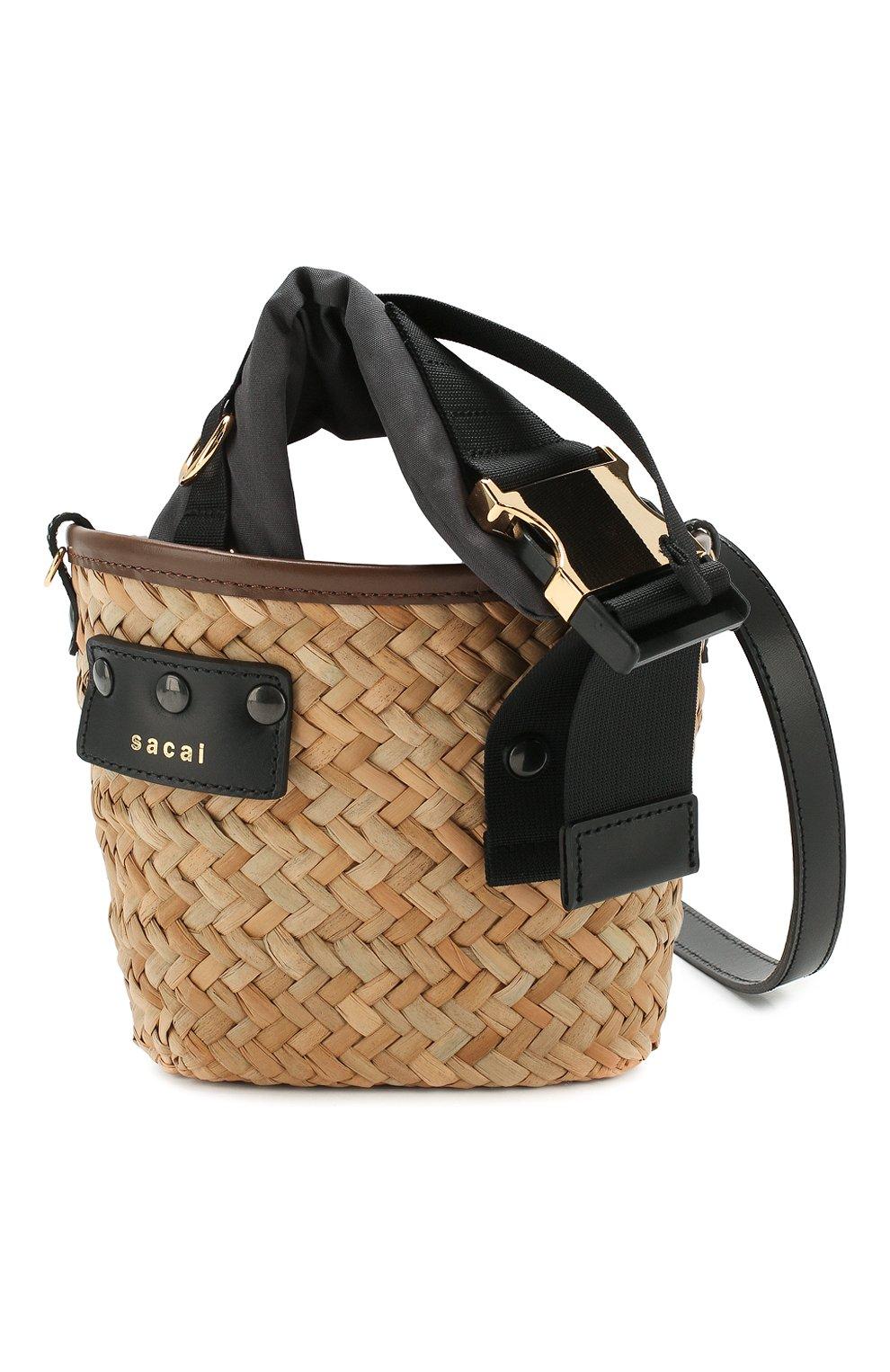 Женская сумка SACAI бежевого цвета, арт. S047-01 | Фото 6