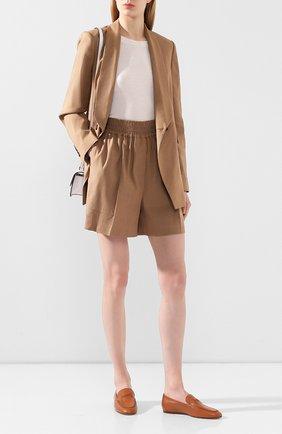 Женские кожаные лоферы TOD'S коричневого цвета, арт. XXW79A0C030G0C   Фото 2