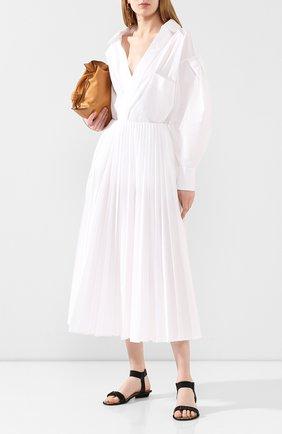 Женские кожаные сандалии LE SILLA черного цвета, арт. 1450Q020R4PPBUR   Фото 2
