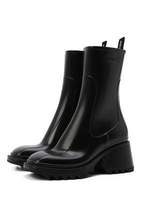 Женские резиновые ботинки betty CHLOÉ черного цвета, арт. CHC19W239G8 | Фото 1