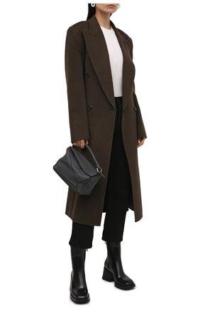 Женские резиновые ботинки betty CHLOÉ черного цвета, арт. CHC19W239G8 | Фото 2