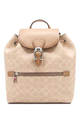 Женский рюкзак evie COACH бежевого цвета, арт. 68563 | Фото 1