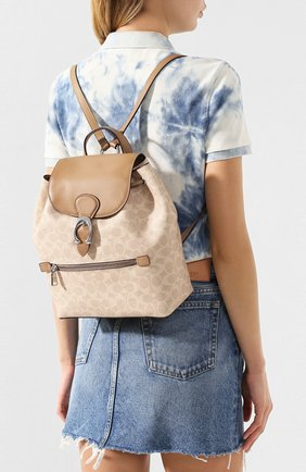 Женский рюкзак evie COACH бежевого цвета, арт. 68563 | Фото 2