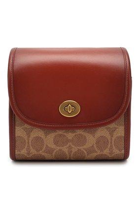 Женская сумка turnlock COACH коричневого цвета, арт. 144 | Фото 1