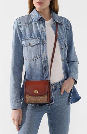 Женская сумка turnlock COACH коричневого цвета, арт. 144 | Фото 2